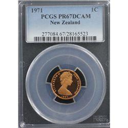 New Zealand 1971 Decimal Proof Set PCGS PR66-68