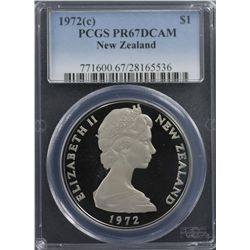 New Zealand 1972 Decimal Proof Set PCGS PR66-68