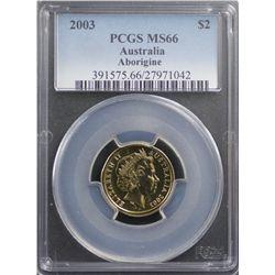 2003 $2 PCGS MS66