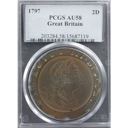 Great Britain 1797 2D PCGS AU58