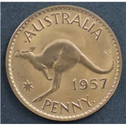 Australia 1957 Perth Penny Proof
