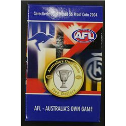 2004 Selectively Gold Plated $5 Proof AFL