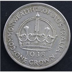 Australia 1937 Crown Extremely Fine & 1938 Crown