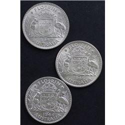 1944s, 1946, 1947 UNC Florins