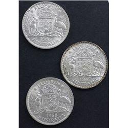 1942,1943 UNC, 1958, 1961, 1962 and 1963 Choice UNC Florins