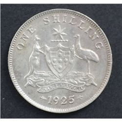 1925 Shilling Nearly UNC