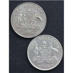 1928 and 1934 Shillings