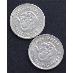 1940 Shilling, 1941 Shilling EF/AU