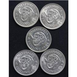 Shillings 1959-1963