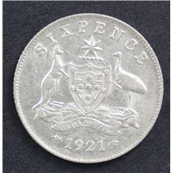 1921 Sixpence