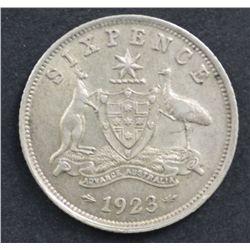 1923 Sixpence