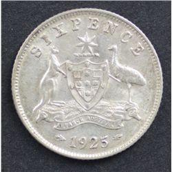 1925 Sixpence