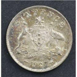 1927 Sixpence