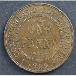 Australia 1916 Penny Nearly UNC