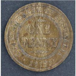 Australia 1919 Plain Penny Nearly UNC