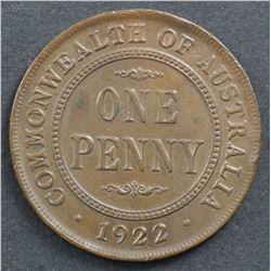 Australia 1922 Penny Nearly UNC