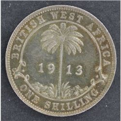 British West Africa 1913 Shilling Nearly UNC