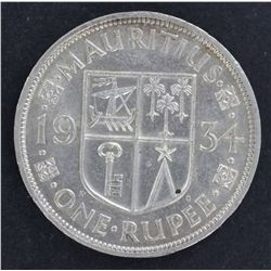 Mauritius 1 Rupee 1934 EF