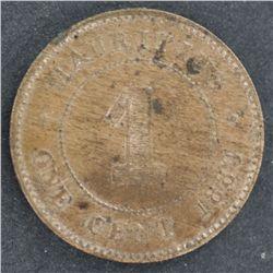 Mauritius 1883 1c UNC