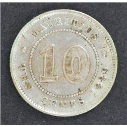 Mauritius 20c 1878, 10c 1889 both Good VF