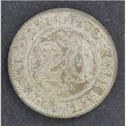 Mauritius 20c 1899H Good EF