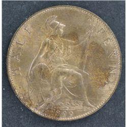 Great Britain Farthing 1931 UNC, Half Pennies 1897 & 1899 Choice UNC