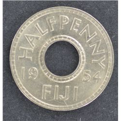 Fiji Half Pennies 1954 Brilliant UNC (100)