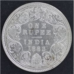 India 1 Rupee 1888 Nearly UNC