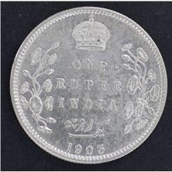 India 1 Rupee 1903 Nearly UNC