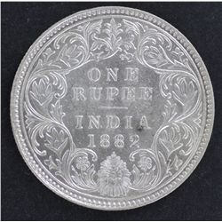 India 1 Rupee 1882 Nearly UNC