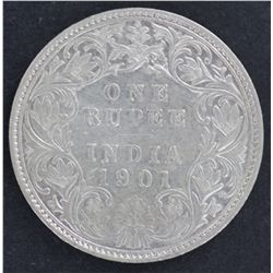 India 1 Rupee 1901 Nearly UNC