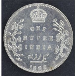 India 1 Rupee 1905 Nearly UNC
