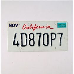 Baywatch License Plate Prop