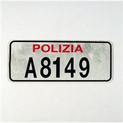 Casino Royale Polizia License Plate Prop