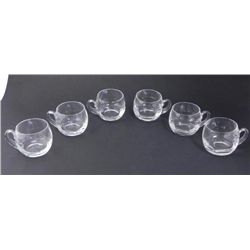 Set of 6 Crystal Irish Coffee/ Liqueur Glasses