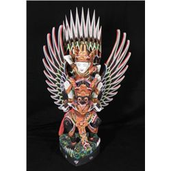 Thai Birdman Statue Hand Painted Sculpture Thailand.