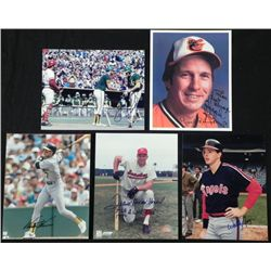 5) AL Signed Photos- Brooks Robinson Frank Howard
