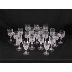 20) Crystal Wine Glasses- Goblets Red Dessert
