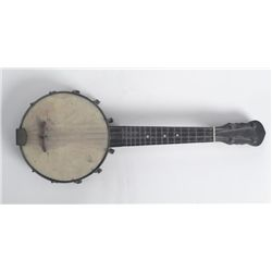 Vintage Small Banjo Mini Musical Instrument