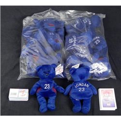 12 Michael Jordan Beanie Bears MFG Lot MINT w/COAs