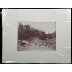 Large Antique Albumen Photograph Children Playing -1890