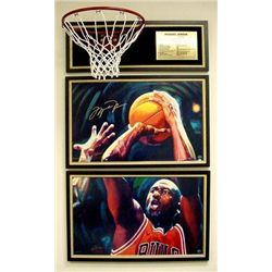 2 Michael Jordan Signed LE Fine Art Prints LAST SHOT