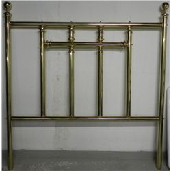 Antique Brass Queen Size Bed Frame w/Globe Finials