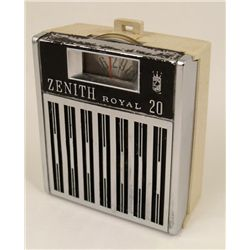 Zenith Royal 20 Vintage 1960s Pocket Transistor Radio