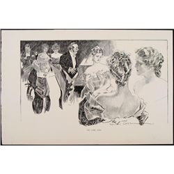 Charles Gibson Girl Orig Book Print 1896 Comic Song