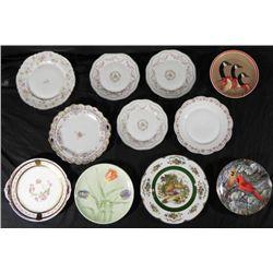 10 Vintage China Plates England, Japan, Bavaria