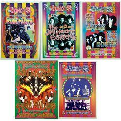 5 Great Rock Concert Repro Posters Pink Floyd, Doors