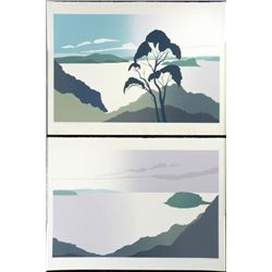 2 Jamie Blake Art Prints Diptych Ku-Ring-Gai Chase Park
