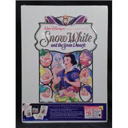 Snow White Disney Deluxe Video w/ Art Prints, Book MIB