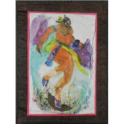 Betty Heredia Batik Fabric Painting Native American